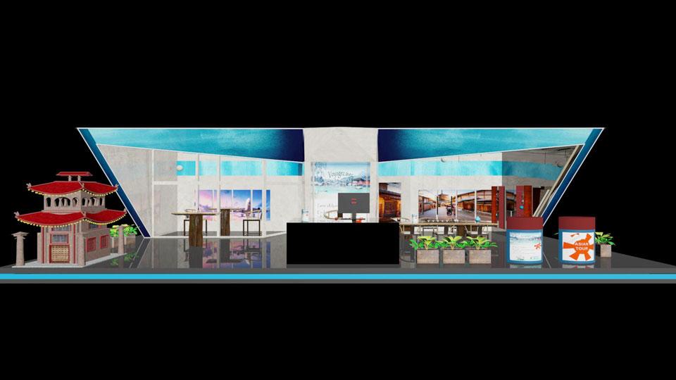 3D Stand pour une agence de voyage