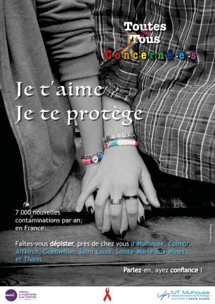 Affiche Lutte contre le VIH