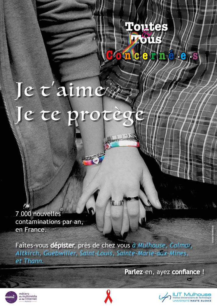 Affiche - Lutte contre le VIH