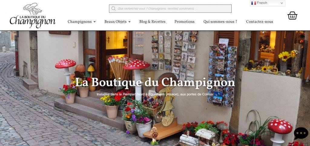Site Web La Boutique du Champignon