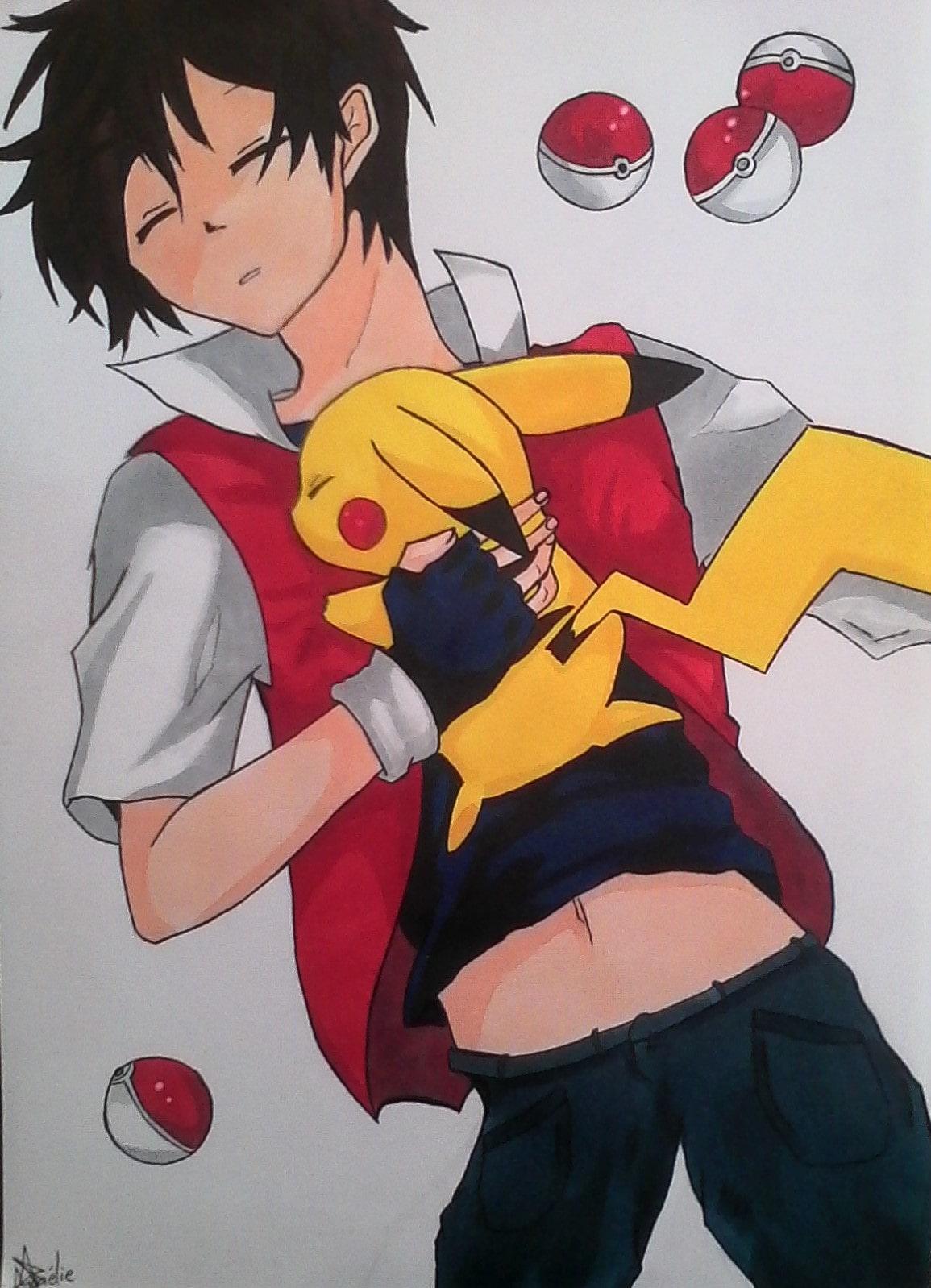 Sacha & Pikachu   Pokémon