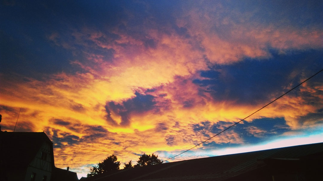 Photo Ciel aux nuages oranges