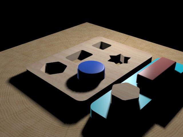 3D Formes en bois