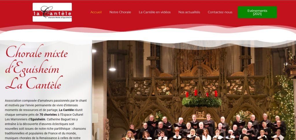 Site web Chorale La Cantèle