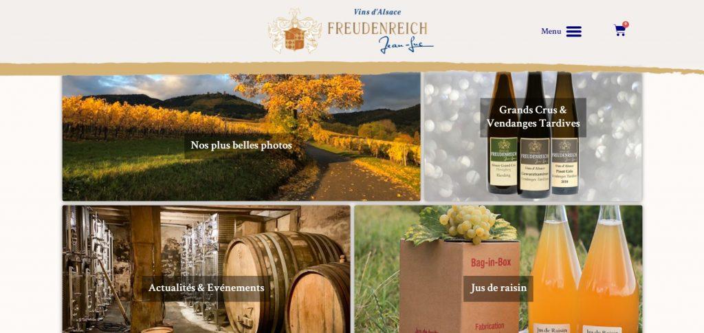 Site web Freudenreich Vins Alsace