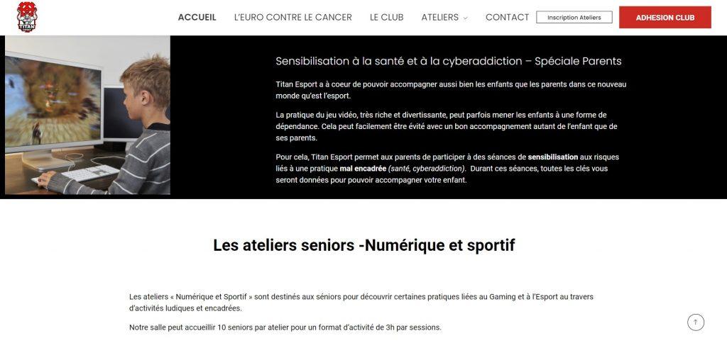 Site web PHG TITAN Club Esport