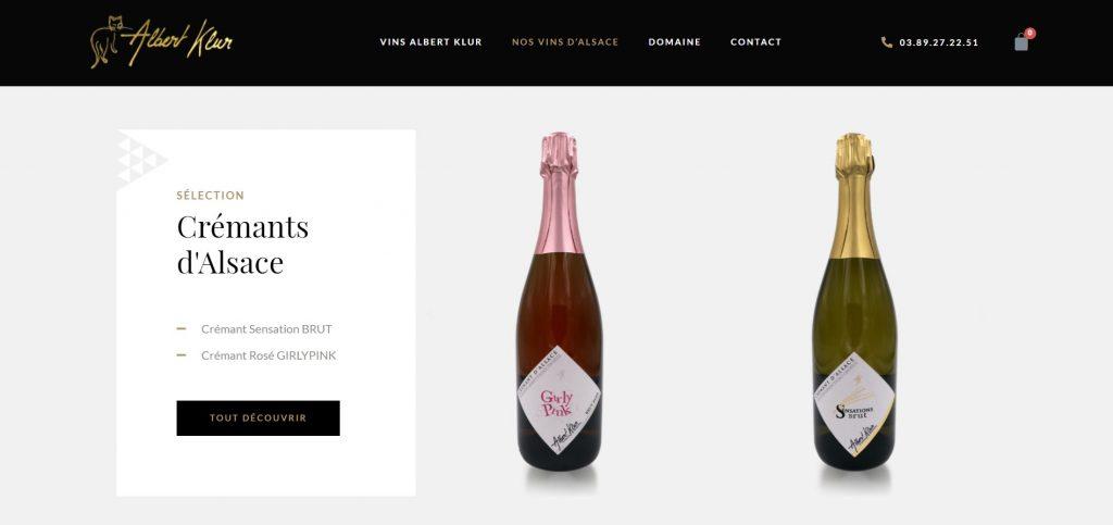 Site web Vins Albert Klur